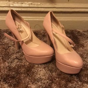 Used Size 9 Strappy Nude Heel